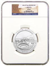 2012-P Chaco Culture 5 oz. Silver America the Beautiful Specimen Coin NGC SP69