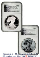 2012-S 75th Anniversary San Francisco 2 Coin Silver Eagle Set (EG1) NGC PF69UC Reverse PF69 Proof 69 American Liberty Series (ALS) Label ***NOT FR/ER***