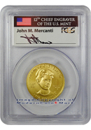 2012-W Frances Cleveland Second Term $10 First Spouse Gold Signed by John M. Mercanti PCGS MS69 FS Mint State 69 First Strike