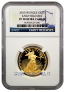 2013-W $25 Gold Eagle NGC PF70 UC ER Proof 70 Ultra Cameo Early Releases