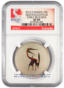 2013 Canada Glow in the Dark Dinosaur - Quetzalcoatlus 25c NGC SP69 ER Specimen 69 Early Releases
