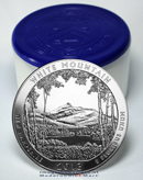 2013 5 Oz Silver America The Beautiful White Mountain National Park Gem Brilliant Uncirculated - Roll of 10 Coins