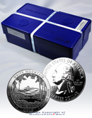 2013 5 Oz Silver America White Mountain National Park Gem Brilliant Uncirculated - Sealed US Mint Monster Box of 100 Coins