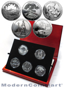 2013 5 Oz America The Beautiful 5 Coin National Park 25C Coin Set In Presentation Display Box