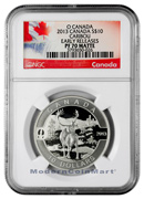 2013 Canada 1/2 Oz Silver Caribou - O Canada $10 NGC PF70 Matte ER Proof 70 Matte Early Releases ***EXCLUSIVE LABEL***