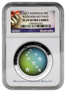 2013 Australia 1 Oz Silver Pavo Southern Sky $5 NGC PF69 UC NGC Proof 69 Ultra Cameo ***EXCLUSIVE LABEL***