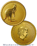 2013-P Australia 0.5 Gram .9999 Fine Gold Kangaroo $2 Coin In Original Perth Mint Packaging