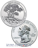 2013 5 Oz America The Beautiful Great Basin National Park Bullion Issue Singles, Rolls, Boxes ***PRE-ORDER REQUEST***