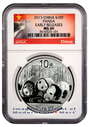 2013 China 1 Oz Silver Panda 10 Yuan NGC MS69 ER Mint State 69 Early Releases ***EXCLUSIVE GREAT WALL LABEL***