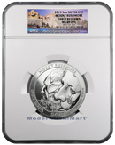 2013 5 Oz Silver America the Beautiful Mt Rushmore 25c NGC MS69 DPL ER Mint State 69 Deep Proof Like Early Releases