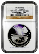 2013 Fiji Proof Silver Colorized Chassigny- France Meteorites NGC PF69 UC Proof 69 Ultra Cameo