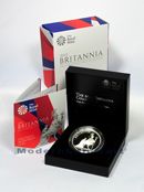 2013 Great Britain 1 Oz .999 Fine Silver Britannia £2 Proof In Royal Mint Box w/COA