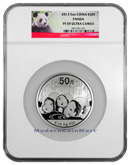 2013 China 5 Oz Silver Panda 50 Yuan NGC PF69 UC Proof 69 Ultra Cameo ***PANDA LABEL***