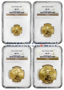 2013 4 Coin Gold American Eagle Set NGC MS70 Mint State 70
