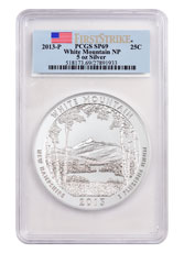 2013-P White Mountain 5 oz. Silver America the Beautiful Specimen Coin PCGS SP69 FS