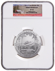 2013-P White Mountain 5 oz. Silver America the Beautiful Specimen Coin NGC SP70