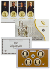 2013-S U.S. Presidential Dollar Proof Set GEM Proof OGP