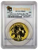 2013-W $50 Buffalo Gold Reverse Proof PCGS PR69 First Strike Reverse Proof 69 FS ***100th Anniversary Buffalo Label***