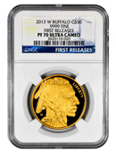 2013-W $50 Gold Buffalo NGC PF70UC FR Proof 70 Ultra Cameo First Releases