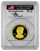2013-W Edith Roosevelt $10 First Spouse Gold Signed by John M. Mercanti PCGS PR70 DCAM FS Proof 70 Deep Cameo First Strike