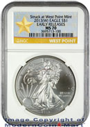 2013(W) Silver Eagle Struck at West Point Mint NGC MS70 ER Mint State 70 Early Releases ***STAR LABEL***
