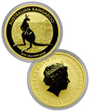 2014-P Australia 1/4 Troy Oz .9999 Fine Gold Kangaroo $25 Coin In Original Perth Mint Capsule