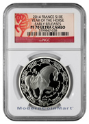 2014 France Silver Lunar Year of the Horse 10 Euro ER NGC PF70 UC ER Proof 70 Ultra Cameo Early Releases ***HORSE LABEL***