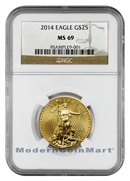 2014 $25 1/2 Oz Gold American Eagle NGC M