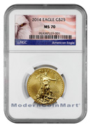 2014 $25 1/2 Oz Gold American Eagle NGC Mint State 70 MS 70 ***PRE-ORDER REQUEST*** ***EXCLUSIVE AMERICAN EAGLE LABEL***
