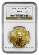 2014 $50 1 Oz Gold American Eagle NGC Mint State 70 MS 70 ***PRE-ORDER REQUEST***