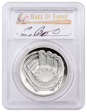 2014-P Baseball Hall of Fame Commemorative Silver Dollar Proof PCGS PR70 DCAM Craig Biggio Signed Label