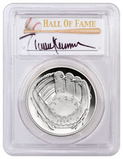 2014-P Baseball Hall of Fame Commemorative Silver Dollar PCGS PR69 DCAM Randy Johnson Signed Label