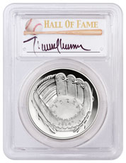 2014-P Baseball Hall of Fame Commemorative Silver Dollar PCGS PR70 DCAM Randy Johnson Signed Label