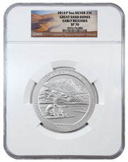 2014-P Great Sand Dunes 5 oz. Silver America the Beautiful Specimen Coin NGC SP70 ER