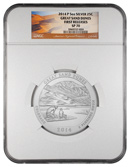 2014-P 5 oz. .999 fine silver America The Beautiful (ATB) Great Sand Dunes National Park NGC SP70 FR Specimen 70 First Releases