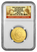 2014-W Lou Hoover $10 First Spouse Gold NGC MS70 ER Mint State 70 Early Releases