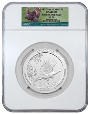2015-P Kisatchie 5 oz. Silver America the Beautiful Specimen Coin NGC SP70 FDI