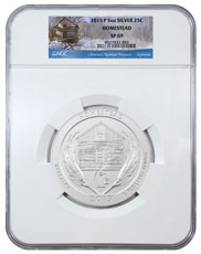2015-P Homestead 5 oz. Silver America the Beautiful Specimen Coin NGC SP69