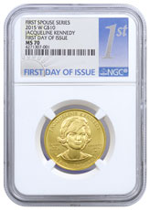 2015-W Jacqueline Kennedy First Spouse Gold $10 Coin NGC MS70 FDI