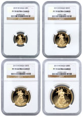 2015-W Gold American Eagle Proof 4-Coin Set NGC PF70 UC
