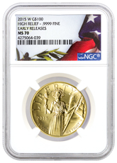 2015-W American Liberty Gold High Relief $100 NGC MS70 ER