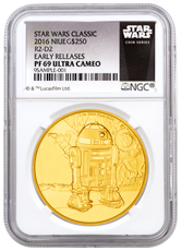 2016 Niue Star Wars Classic - R2-D2 1 oz Gold Proof $250 NGC PF69 UC ER (Exclusive Star Wars Label)