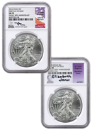 2016 American Silver Eagle NGC MS70 FDI (Mercanti & Jones Signed Labels)
