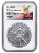 2016 American Silver Eagle NGC MS69 FR (Mercanti Signed Label)