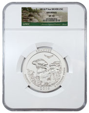 2016-P Shawnee 5 oz. Silver America the Beautiful Specimen Coin NGC SP70