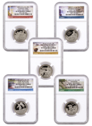 2016-S Proof Clad America the Beautiful Quarters - Set of 5 Coins | NGC PF70 UC Early Releases