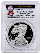 2016-W Proof American Silver Eagle Congratulations Set PCGS GEM Proof