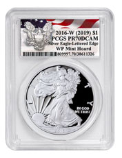 2016-W 1 oz Proof American Silver Eagle 30th Anniversary West Point Mint Hoard PCGS PR70 DCAM Waving Flag Label