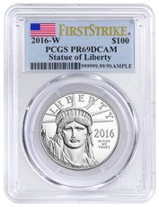 2016-W 1 oz Platinum American Eagle Proof $100 PCGS PR69 DCAM FS