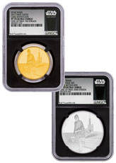 2017 Niue Star Wars Classic - Luke Skywalker 2-Coin Set 1 oz Gold + Silver Proof Coin Scarce and Unique Coin Division NGC PF70 One of First 1,000 Struck